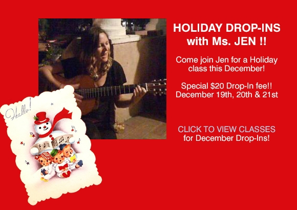 Holiday Drop-ins with Ms. Jen
